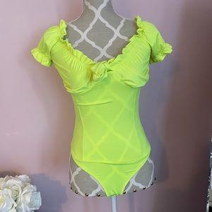 Pretty Green ruffle bodysuit